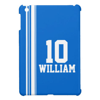 Name blue & white sport name & number ipad mini iPad mini case