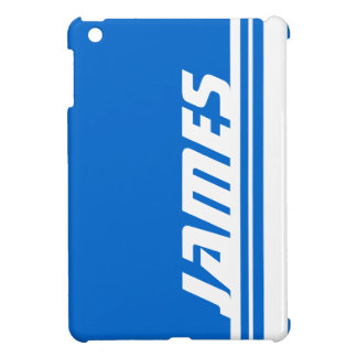 Name blue & white stripe sport ipad mini iPad mini case