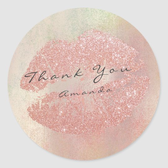 Name Branding Thank You Kiss Rose Gold Makeup