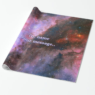 Name, Carina Nebula, intriguing outer space image Wrapping Paper