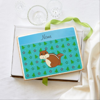 Name chipmunk turquoise christmas trees stars