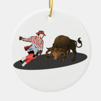 NAME: Clown and Bull 1-No-Text Christmas Ornament