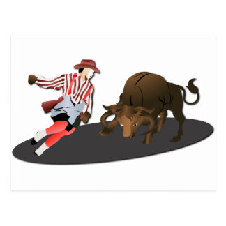 NAME: Clown and Bull 1-No-Text Postcard