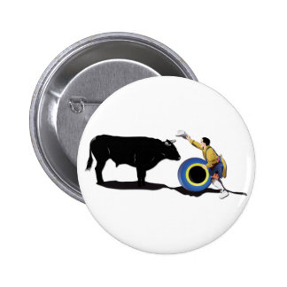 NAME: Clown and Bull-No-Text 6 Cm Round Badge