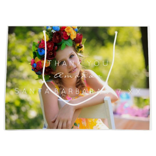 Name Date Photo Birthday Favor Thank You Large