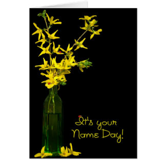 Name Day Bouquet Greeting Card