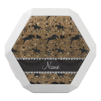 Name gold glitter equestrian hearts bows