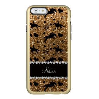 Name gold glitter equestrian hearts bows incipio feather® shine iPhone 6 case