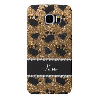 Name gold glitter princess crowns diamonds samsung galaxy s6 cases