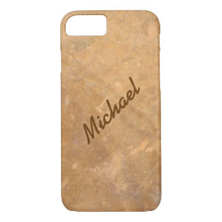 Name Gold Stone Look iPhone 8/7 Case