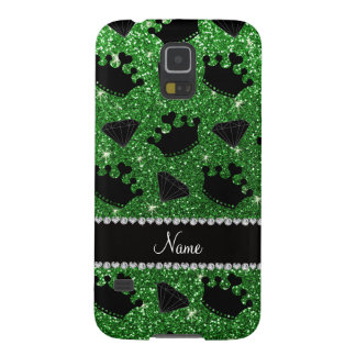 Name green glitter princess crowns diamonds galaxy s5 case