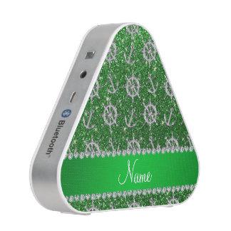 Name green glitter silver anchors ships wheel speaker