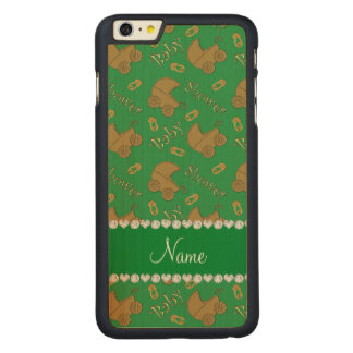Name green gold baby carriages pins baby shower iPhone 6 plus case