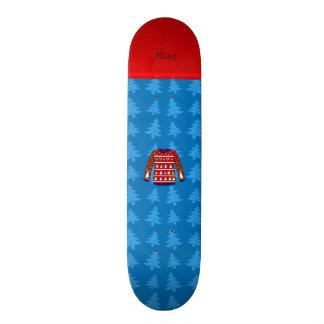 Name green ugly christmas sweater blue trees 21.3 cm mini skateboard deck