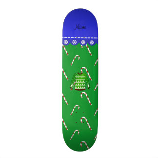 Name green ugly christmas sweater candy canes 21.6 cm skateboard deck