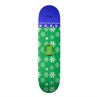 Name green ugly christmas sweater green snowflakes 18.1 cm old school skateboard deck