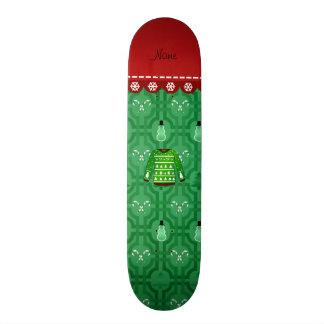 Name green ugly christmas sweater green snowmen skate decks