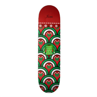 Name green ugly christmas sweater half circles skateboard decks