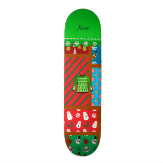 Name green ugly christmas sweater ugly pattern skate board
