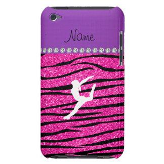 Name gymnast neon not pink glitter zebra stripes iPod Case-Mate case