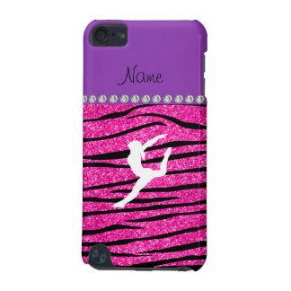 Name gymnast neon not pink glitter zebra stripes iPod touch (5th generation) cover