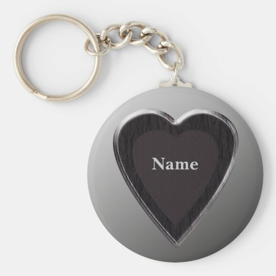Name Heart Keychain - Template