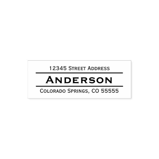 Name in Centre Return Address - Self-Inking Stamp