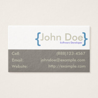 Name in Curly Braces Business Card