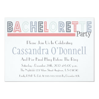 Name In Lights Bachelorette Party Invites (Pink)