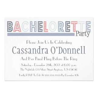 Name In Lights Bachelorette Party Invites Silver