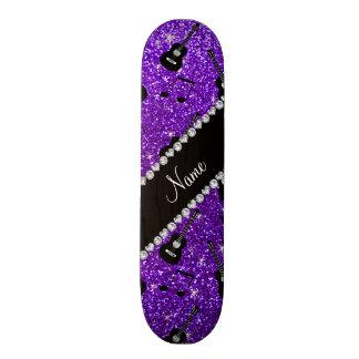 Name indigo purple glitter guitars music notes skate decks