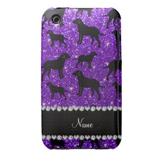 Name indigo purple glitter labrador retrievers iPhone 3 cover