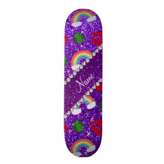 Name indigo purple glitter shamrocks rainbows kiss skate boards