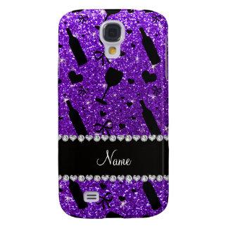 name indigo purple glitter wine glass bottle galaxy s4 case