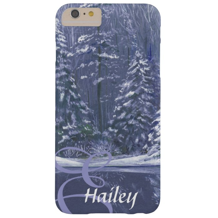 Name & initial winter trees blue case