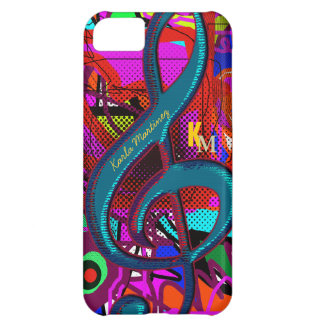 name initials clave musical note iPhone 5C case