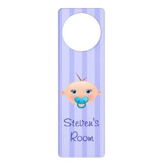 """""""Name it!"""" Baby Face Blue - Nursery Door Hanger"""