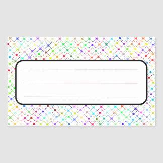 Name Label Rectangle Stickers, Glossy Rectangular Sticker