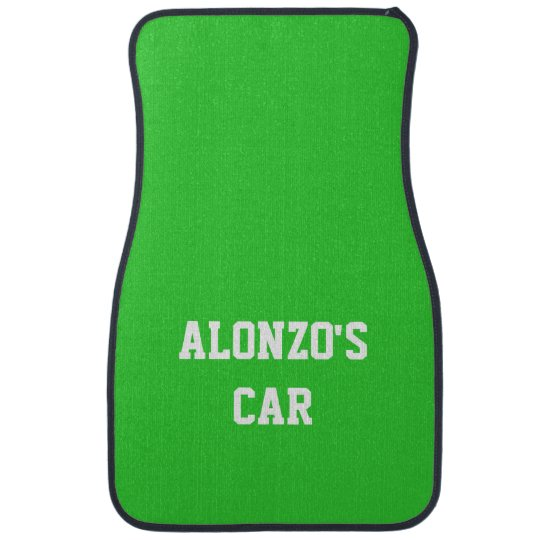 Name Lime Green Best Complementary Colour Car Mat