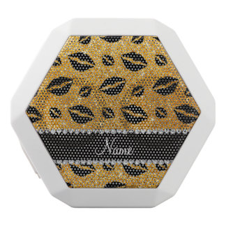Name lipstick kisses yellow glitter white boombot rex bluetooth speaker