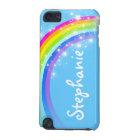 Name (long) rainbow sky blue girls ipod case