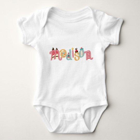 name Madison Baby Bodysuit