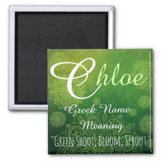 Name Magnet: Chloe, Sprout, Bloom Magnet