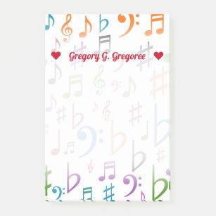 Music Note Symbol Post It Notes Sticky Notes Zazzle Uk