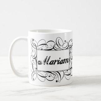 Name Mariam in black inside stylish frame Basic White Mug