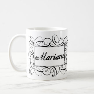 Name Mariam in black inside stylish frame Mugs