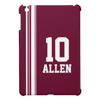 Name maroon & white sport name & number ipad mini iPad mini cover