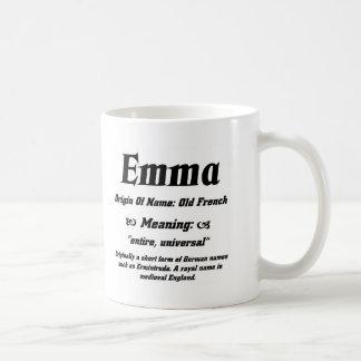Name Meaning 'Emma' Basic White Mug