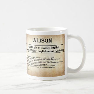 Name Meaning Mug  - Alison