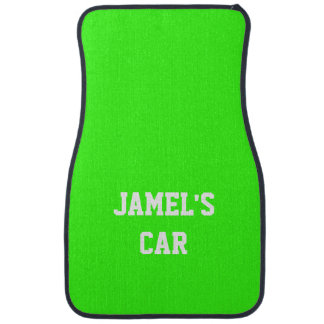 Name Neon Green Top Single Color Floor Mat